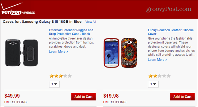 verizon rip-off pricing on android cases