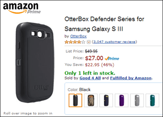 otterbox on amazon is half the price of other stores
