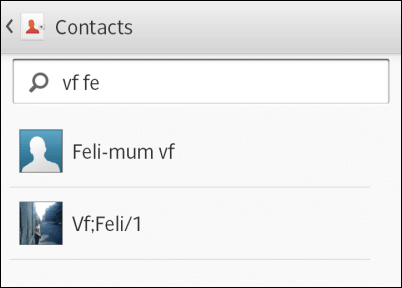 Add contact widget to screen select contact