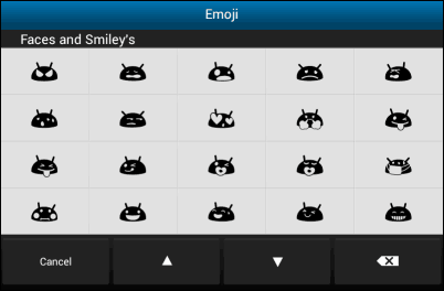 Emoji keyboard faces