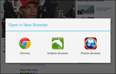 Flashify choose browser