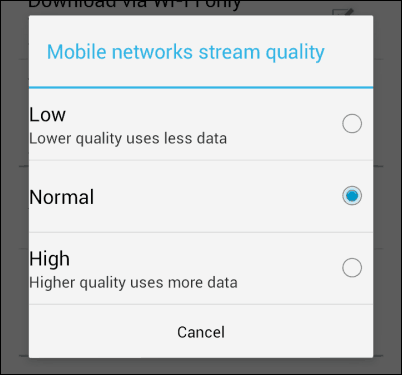 Google Play Music data use quality