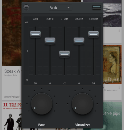 Music Equalizer playing presets edit