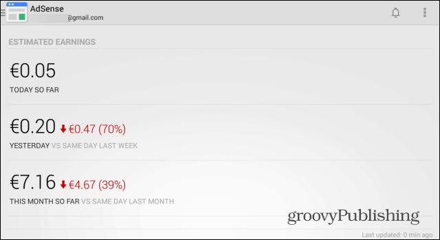 AdSense Android app main