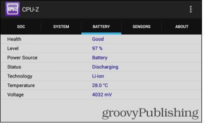 Cpu-z Android battery