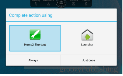 Home2 shortcut always use