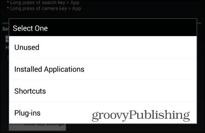 home 2 shortcut options home app