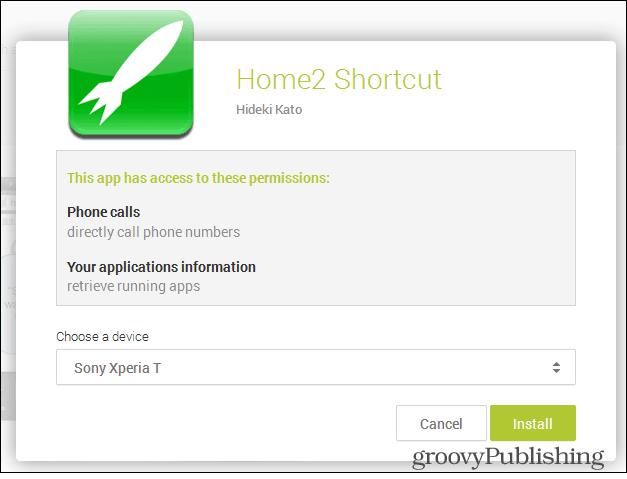 home 2 shortcut