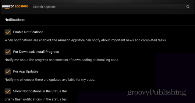 Amazon Appstore Notifications Enabled