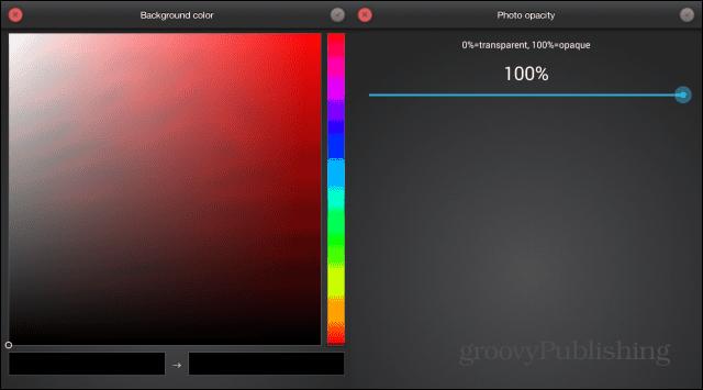 Photo FX Live Wallpaper background opacity