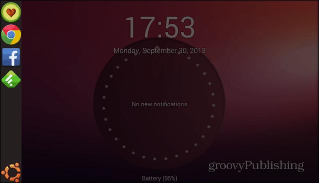 Ubuntu Lockscreen sidebar