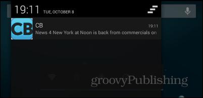 Commercial Break notification