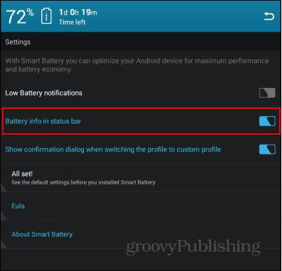 Smart Battery Saver settings