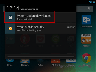 System Update Downloaded
