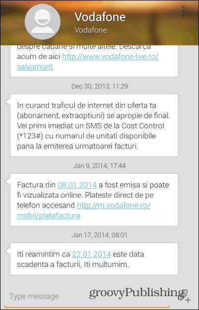 Evolve SMS slider