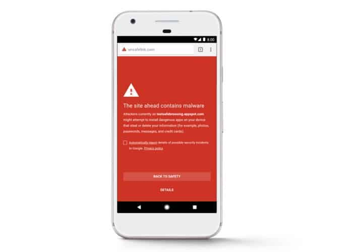 Surf Safe Android Chrome