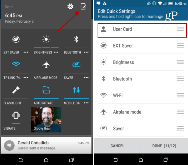 Android Marshmallow HTC One Settings
