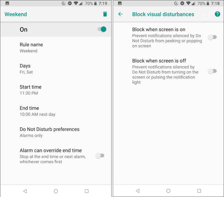 Block Android Visual Disturbances