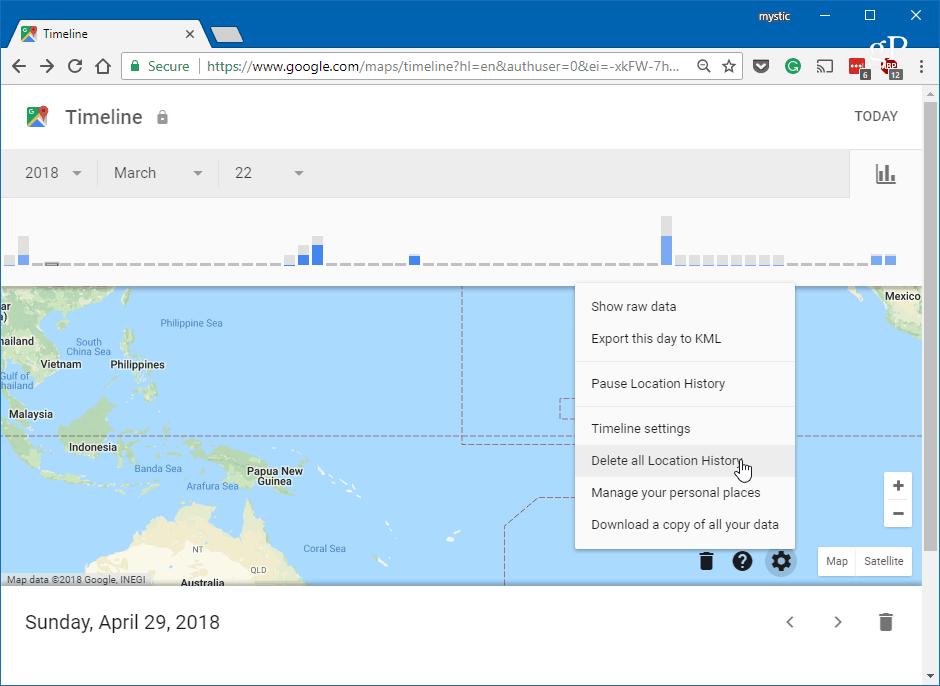 google location history android phone