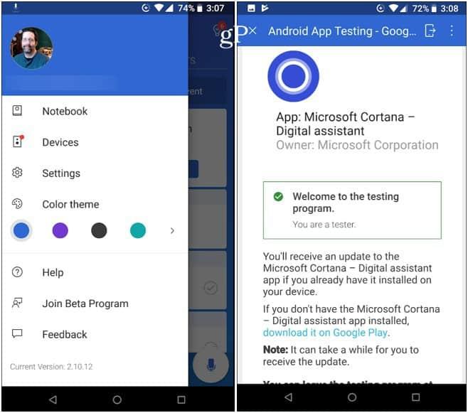 Cortana Android Beta Program