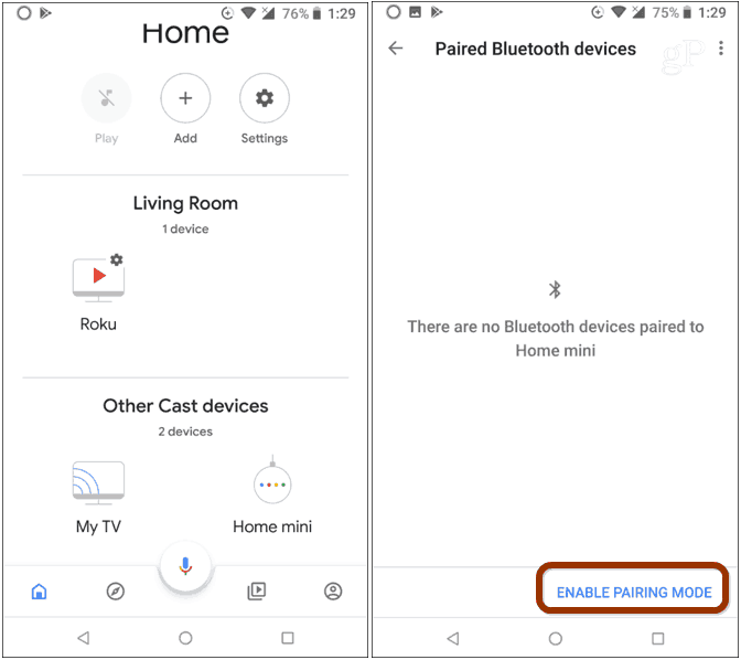 Google Home App Enable Bluetooth Pairing