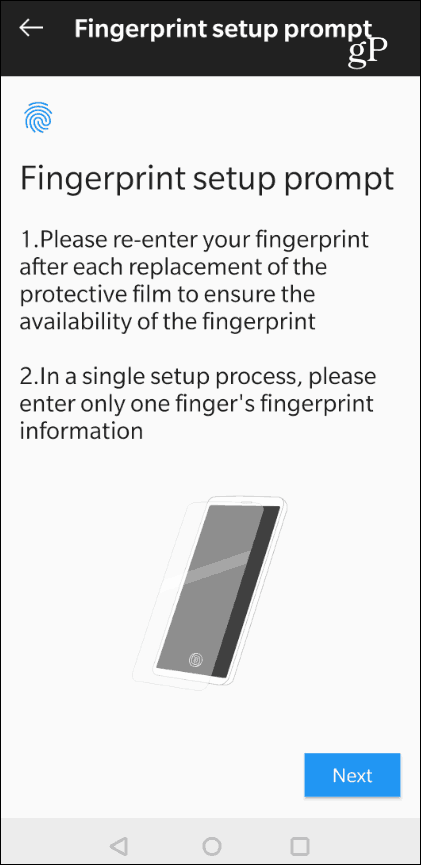 OnePlus Screen Cover Fingerprint