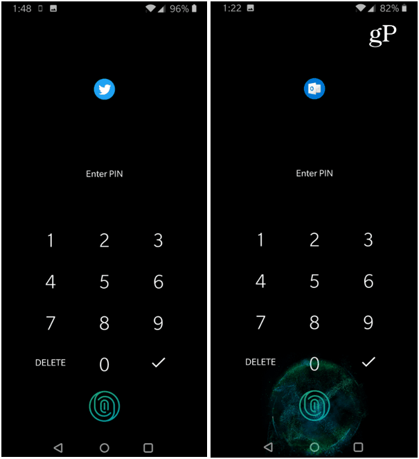 Use PIN Unlock App Locker