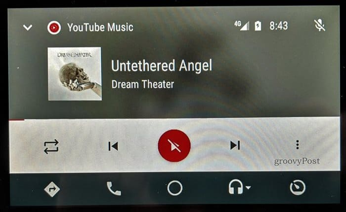 YouTube Music Android Auto main