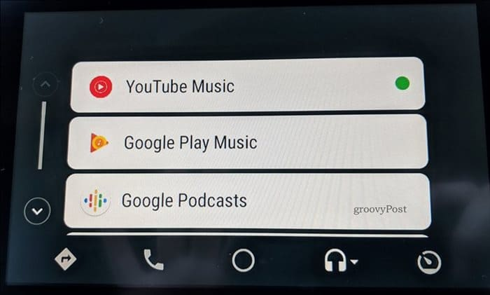 YouTube Music Android Auto start