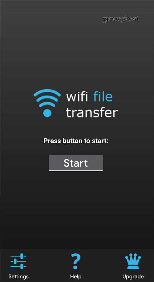 WiFi File Transfer Start