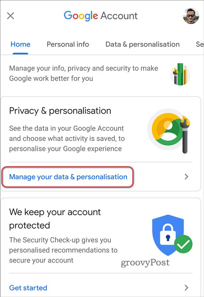 Delete Google Location History Automatically data personalisation